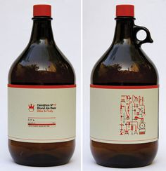 Demijhon Beer #beer #packaging #bottle #label #icon