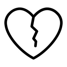 See more icon inspiration related to heartbreak, love and romance, valentines day, broken heart, romantic, love and shapes on Flaticon.