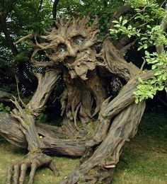 Enormous Sculpture of a Tree Troll #sculpture #troll #tree #wood #art