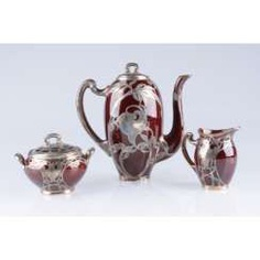 Tea coffee set in the art Nouveau style. USA, firm Lenox.