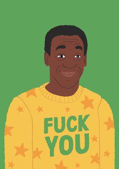 Bill Cosby's new jumper #bill #illustration #cosby