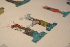An Illustrated Typeface That is Made Up Of Fantastical Sea Monsters DesignTAXI.com #letter #illustration #typeface