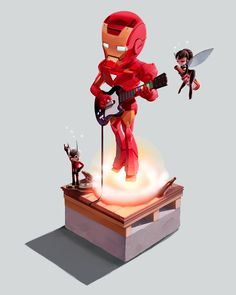 Iron Man #guitar #wasp #iron #avengers #man #ant