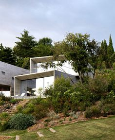 Modernist Brutalism of the Row Concrete at Maison Le Cap - #architecture,  #house,  #housedesign