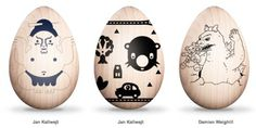 Eastern Eggs: Bot-Etched Art Eggs for Japan | Brain Pickings #easter #design #egg