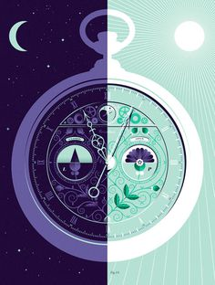 The Circadian Clock #illustration #color