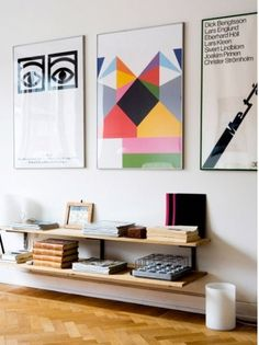 Artist Of Bold & Colorful Framed Poster? Good Questions | Apartment Therapy San Francisco #wall #bookshelf