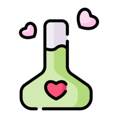 See more icon inspiration related to love, love potion, love and romance, valentines day, potion, romantic, flask, chemical, education, chemistry and heart on Flaticon.