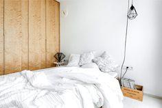 Apartment with a Custom-Made Plywood Interior - InteriorZine #decor #interior #home #bedroom