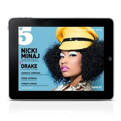 5MAG07NICKIMINAJ1.jpg 726×726 pixels #ipad #design #digital #app #magazine