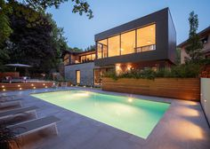 Modern City Oasis in Montreal, Canada: Prince Philip Residence #architecture #residence #modern