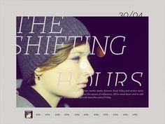 The shifting hours | Katachi Magazine #ipad #magazine #typography
