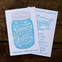 Monches Letterpress Invite by Varado #print #letterpress