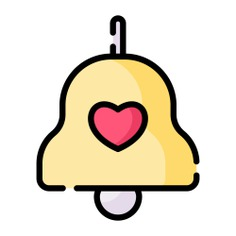 See more icon inspiration related to alarm, bell, love and romance, music and multimedia, musical instrument, alert, heart, love and music on Flaticon.