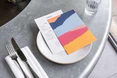 Sardine by Here Design #menu #color #texture