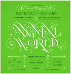 Typeverything.com - Animal World for Chopard -... - Typeverything #promotion #poster #typography