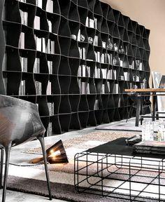 Iron-ic Metal Bookcase by Ronda Design - #design, #furniture, #modernfurniture, design, furniture