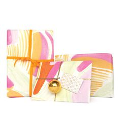 STRIPES ORANGE GIFT WRAP