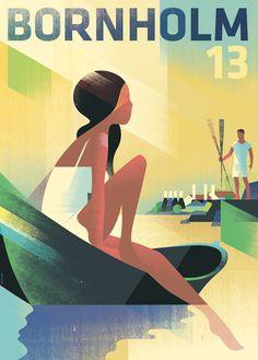 Mads Berg - Bornholm 13 #illustrator #art #poster #illustration