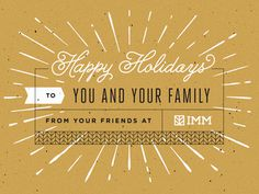 2013 IMM Holiday Card #card #screen printing #boulder #colorado #holiday card #imm