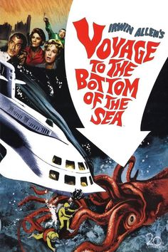 Voyage to the Bottom of the Sea (1961) #movie #lettering #poster