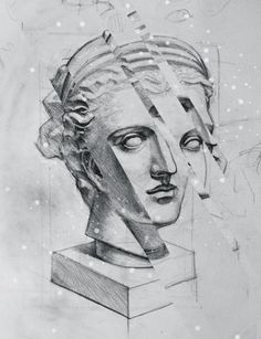 still shivering #drawing #bust #diana
