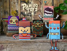 PAPER TOYS SERIE I on Behance #illustration #vector #paper #toy
