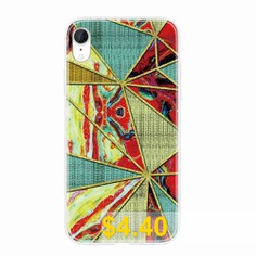 TPU #Geometric #Marble #Painted #Phone #Case #for #iPhone #XR #- #MULTI-B