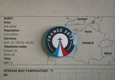 Paris Pin #paris #airplane #button #design #geometric #map #pin #circle