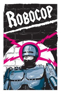 Robocop In Love Art Print by Matt Fontaine | Society6 #scifi #digital #vector #robocop