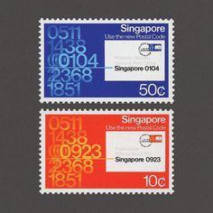Use the New Postal Code. Singapore, 1979. Design: Unknown. #graphilately #mnh #graphiSingapore