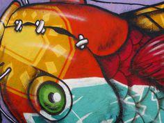 """Fishwall""Venice Beach #tumblr #photographie #painted #landscape #venice #audreyevrard #polacolor #colorful #tag #angeles #california #graff #color #cali #los #house #picture #fish #californie #fishwall #villa #beach"