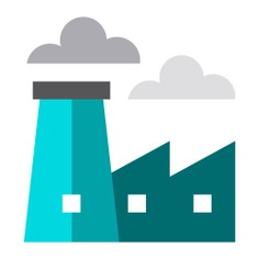 See more icon inspiration related to factory, industry, industrial, pollution, buildings, contamination and landscape on Flaticon.