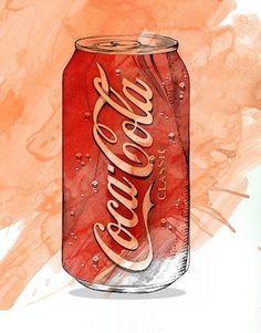 Lítill Blóm #sexy #packaging #coca #illustration #drawn #bleistift #hand #cola