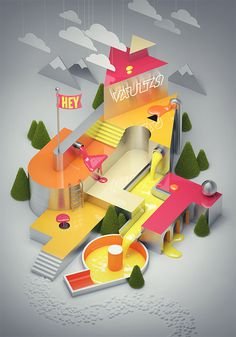Vault49 on Behance #type #3d
