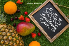 Slate with summer fruits Free Psd. See more inspiration related to Mockup, Summer, Template, Blackboard, Grass, Fruits, Tropical, Holiday, Chalkboard, Mock up, Decoration, Healthy, Pineapple, Decorative, Vacation, Templates, Cherry, Aloha, Up, Season, Hawaiian, Slate, Composition, Mock, Exotic, Summertime and Seasonal on Freepik.