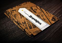 Cervejaria República Business Cards #business #beer #card #stationary