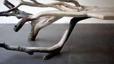 Fallen Tree Bench by Benjamin Graindorge #raw #tree #bench #wood #furniture