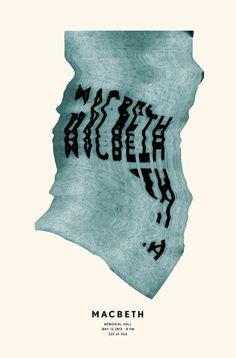 Shakespeare Poster Series on Behance #macbeth #literature #design #shakespeare #illustration #poster