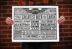Founders Letterpress #beer #print #letterpress #founders #third #poster #street