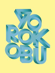 Yorokobu Magazine Cover on Behance by Sergi Delgado #design #typography #lettering #cover #magazine #impossible #yorokobu #graphic design #v