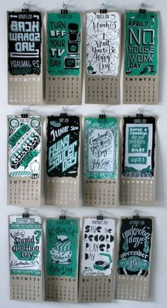 design work life » cataloging inspiration daily #print #calendar