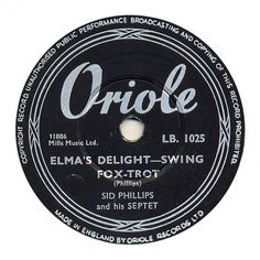 Center Of Attention | The Art Of Record Center Labels | Sid Phillips – Elma's Delight #record #vintage