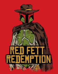 Red Fett Redemption Art Print #mashup