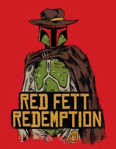 Red Fett Redemption Art Print #mashup