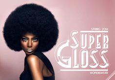 Consumer Industry Trend: Super gloss #disco #branding #pink #afro #funk #logo #blaxsploitation