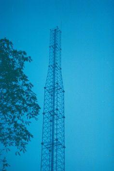 red ink on paper #analog #sky #photo #antena #evening #night #film #ukraine #weird #kiev