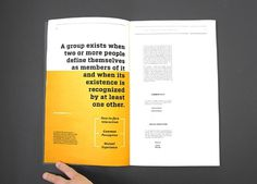 Design;Defined | www.designdefined.co.uk #text #yellow #book #layout #editorial #magazine #typography