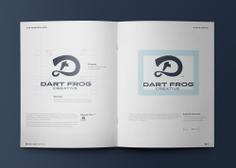 Dart Frog Creative Logo construction
