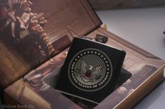 Hollow Book Safe and Whiskey Hip Flask The by HollowBookCo